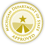 Approved by the Michigan Department of State
